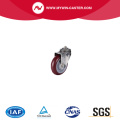 75 mm swivel stainless steel red caster